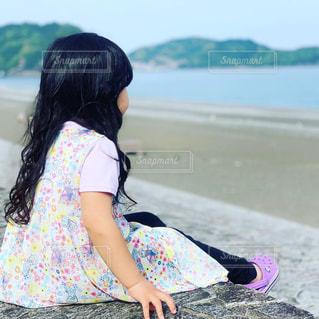 自然,海,青,田舎,山,黄昏,思い出,ゴールデンウィーク,娘,天然パーマ,青と緑,空と海,3歳児