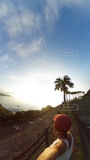 ヤシの木×夕日💯の写真・画像素材[2101357]