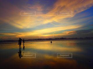 自然,風景,空,夕日,屋外,太陽,ビーチ,雲,夕焼け,夕暮れ,水面,反射,光,クラウド