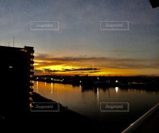 夕方見えた空の写真・画像素材[2442386]