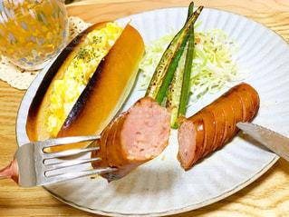 食べ物,朝食,水面,テーブル,皿,おいしい,ソーセージ,ジョンソンウィル
