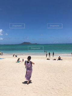 海,空,夏,屋外,後ろ姿,ハワイ,Hawaii
