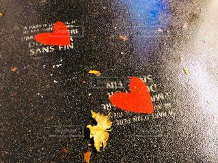 雨,海外,ヨーロッパ,落ち葉,ハート,外,パリ,濡れた地面
