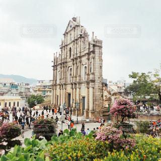 世界遺産,観光,ベージュ,マカオ,海外旅行,聖ポール天主堂跡,ミルクティー色