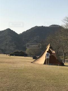 自然,景色,バック,人物,背中,後姿,キャンプ,テント