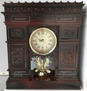 インテリア,茶色,時計,置物,凱旋門,パリ,ブラウン,振り子時計,ダークブラウン,こげ茶,置時計,焦げ茶,回転振り子時計,暗い茶色