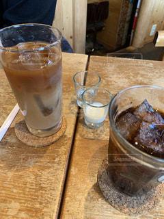 ランチ,アイスコーヒー,茶色,喫茶店,ベージュ,アイスティー,ミルクティー色
