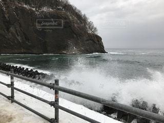 海,冬,水,波,北海道,飛沫,知床,道東,しぶき