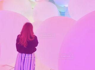 ピンク,ピンク色,チームラボ,pink,豊洲,デジタルアート,ボールアート