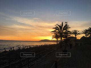 地中海の夕日の写真・画像素材[2370987]