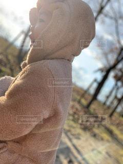 屋外,茶色,景色,男の子,ベージュ,息子,お散歩,お出かけ,2歳,ミルクティー色