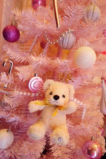 屋内,ピンク,かわいい,クリスマス,ツリー,装飾,夢かわいい,テディーベアー,ファンシー,ゆめかわ,インテリア・家具
