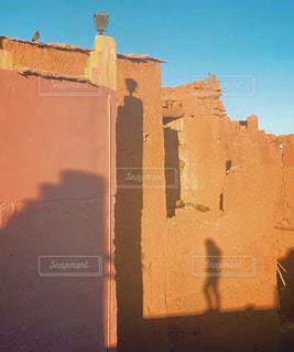 影,オレンジ,鳩,モロッコ,カスバ,ミルクティー色