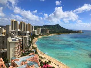 新婚旅行でハワイに行った時の写真です。の写真・画像素材[2011235]