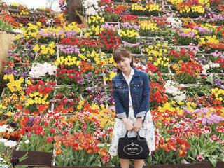 春コーデの写真・画像素材[2030561]