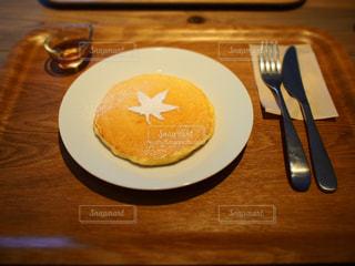 パンケーキ,もみじ,デザート,皿