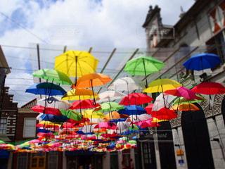 傘,屋外,雲,青空,長崎,ハウステンボス,続く傘