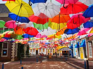 傘,屋外,カラフル,道,可愛い,長崎,ハウステンボス