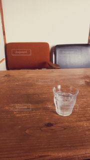 カフェ,ランチ,水,茶色,コップ