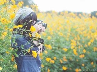 カメラ女子の写真・画像素材[3401913]