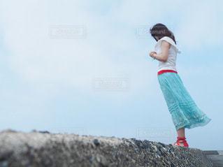 海風を感じての写真・画像素材[3421021]