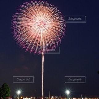 夜空の花火の写真・画像素材[3609478]