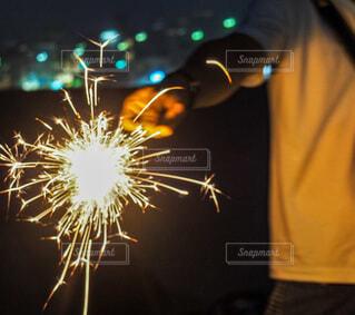 空の花火の写真・画像素材[4660032]