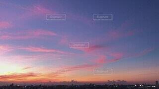 自然,風景,空,屋外,雲,夕焼け,夕暮れ,景色,日没,眺望,夕空,赤い,眺め,動画,爆焼け,残光