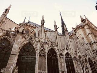 風景,建物,屋外,茶色,観光,旅行,旅,フランス,パリ,教会,ベージュ,ノートルダム大聖堂,シテ島,ミルクティー色