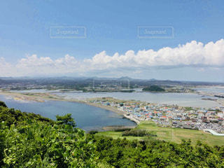 済州島の景色 城山日出峰からの眺めの写真・画像素材[2034322]