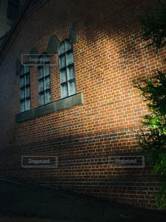 レンガ造りの建物のクローズアップの写真・画像素材[2266841]