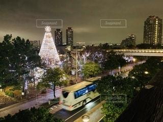 夜の街の眺めの写真・画像素材[2763623]