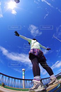 朝イチの眺めの写真・画像素材[2240729]