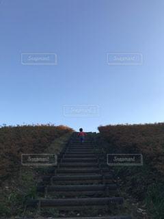 階段を登るとなにがあるかな?の写真・画像素材[2147194]