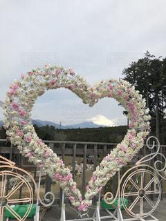 ハートから望む富士山の写真・画像素材[2263385]