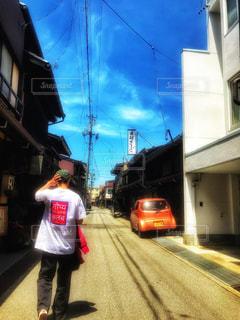 街並み,晴れ,青空,Tシャツ,路地,飛騨高山,お気に入り,古い街並み,秘湯,オリジナル,夏服,半袖