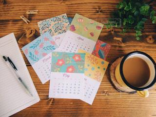 カレンダーとノートの写真・画像素材[3014737]
