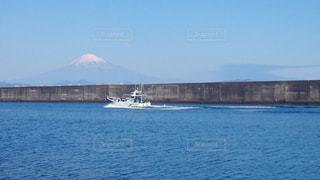 自然,海,空,富士山,船,景色,眺め