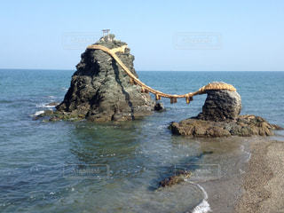 夫婦岩の写真・画像素材[1028705]
