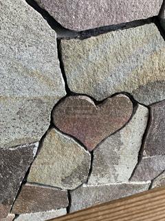 ハートの石 クローズアップの写真・画像素材[2264657]