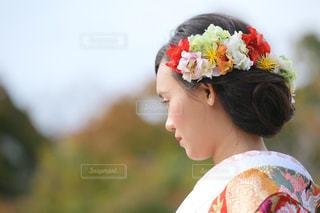 女性,20代,花,京都,綺麗,後ろ姿,お花,人物,背中,着物,人,髪飾り,後姿,結婚,ウエディング,前撮り,和装,フォットウエディング