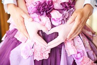 ピンク,紫,ドレス,ハート,赤ちゃん,妊婦さん,マタニティーフォト,ウェルカムベイビー