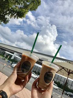 カフェ,空,屋外,雲,オシャレ,おいしい,ドリンク,のんびり,ゆっくり,ミルクティー,お出かけ