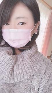 pink mask ❤︎の写真・画像素材[2653190]