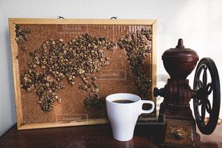 コーヒー豆の世界地図の写真・画像素材[2890046]