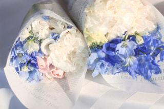 披露宴の帰りに頂いたお花たちの写真・画像素材[3084225]