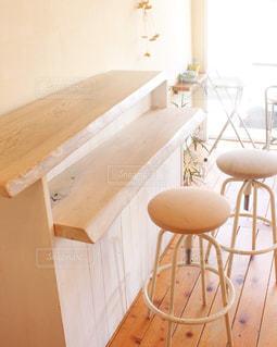木製のテーブルの写真・画像素材[3285419]