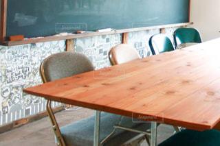 木製のテーブルの写真・画像素材[3285420]