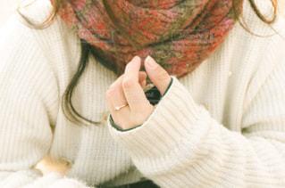 冬の女の子の写真・画像素材[3402712]