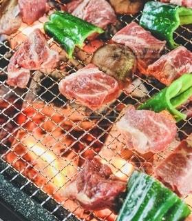 バーベキューのお肉の写真・画像素材[3520856]